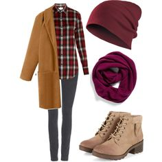 Automn casual outfit by anna250290 on Polyvore featuring polyvore fashion style Yves Saint Laurent Wallis Halogen