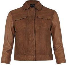 Whitting Cropped Leather Jacket