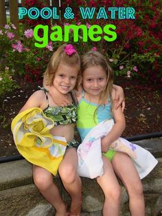 Pool and Water Games - Ideas for Backyard Fun (summer day camp water balloons) Outdoor Water Games, Outdoor Play, Pool Party Games, Fun Games, Backyard For Kids, Backyard Games, Kid Pool, Pool Fun, Summer Fun For Kids
