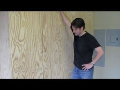 Join me as I show you how to make large storage cabinets made from BC Plywood, pocket hole joints, and adjustable shelves using shelf pins. Large Storage Cabinets, Tool Bench, Rolling Storage, Garage Cabinets, Cabinet Making, Pocket Hole, Adjustable Shelving, Sliding Doors, Tile Floor