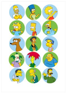Ver producto: Modelo nº 438: Los Simpson The Simpsons, Bolo Simpsons, Simpsons Birthday, Simpsons Party, Bart Simpson, Digital Foto, Office Birthday, Bottle Cap Crafts, Bottle Cap Images