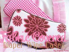 Fabric Covered Diaper Wipe Cases
