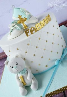 Christening & First Birthday - Cake by Joanna Pyda Cake Studio