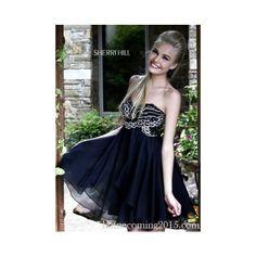 Sherri Hill 3880 Little Black Short Party Dress ($159) via Polyvore
