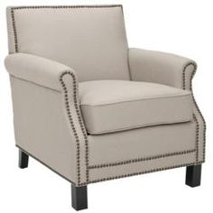 @Overstock - The Mansfield is the classical club chair with great detailing. This furniture piece features comfortable cushioning in a beige linen upholstery with nail heads running along the front, sides and backing.http://www.overstock.com/Home-Garden/Mansfield-Beige-Club-Chair/6002296/product.html?CID=214117 $387.99
