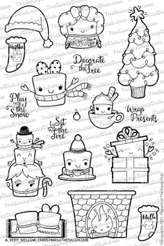 The Sassy Club A VERY MELLOW CHRISTMAS Clear Stamps tscl108 zoom image
