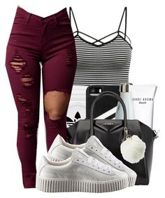 """""""188. B & W"""" by asrat101 ❤ liked on Polyvore featuring adidas, Bobbi Brown Cosmetics, Givenchy, Puma and Charlotte Russe"""