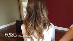 ombr hair with wella hair color cinnamon brown and