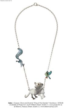 Geraldine Murphy .  Silver and Enamel King of the Garden Necklace