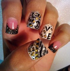 Not sure about different on every nail, but the concept is cute.