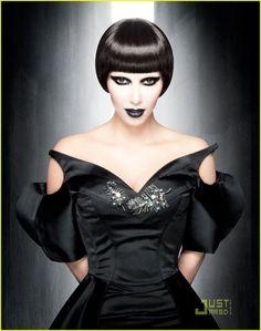 An unusual bowl cut for Kim! #kimkardashian #hair