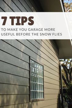 If your garage windows and walls are poorly insulated and make it colder than it should be. Check out these 7 garage improvement tips. Glass Block Windows, Glass Blocks, Home Improvement Projects, Home Projects, Garage Windows, Garage Storage Cabinets, Window Types, Patio Doors, Home Renovation