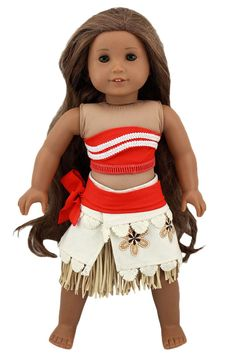 Wesen Doll Clothes For 18 Inch Dolls Moana outfits Fits American Girl Dolls -- Awesome products selected by Anna Churchill