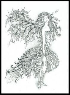 Image detail for -... : Zentangles » ZIA - Zentangle Inspired Art » storm_zen_fairy.jpg