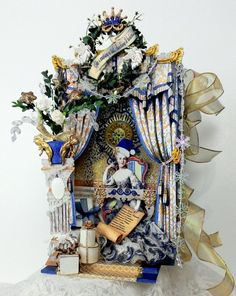 Artfully Musing: Shadow Box Book Tutorial Featuring Marie Antoinette