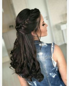 24 Delightful Wedding Hairstyles Ideas weddinghairstyles weddinghairstylesforlonghair is part of braids - braids Quince Hairstyles, Easy Hairstyles For Long Hair, Wedding Hairstyles For Long Hair, Bride Hairstyles, Hairstyle Ideas, Indian Bridal Hairstyles, Hairstyle Wedding, Long Haircuts, Everyday Hairstyles