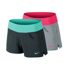 With a four-way stretch woven fabric and a powermesh waistband for support, the Nike Women's Victory Tennis Short is perfect for a tough workout on the court or off. Subtle side vents offer freedom of movement while an inner short provides ball storage and a secure fit.#nike #tennis #running #womensshorts