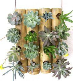 Bamboo Planter, Succulent Planter Diy, Bamboo Garden, Bamboo Cups, Bamboo Art, Bamboo Crafts, House Plants Decor, Plant Decor, Garden Art