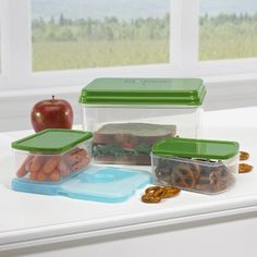 Fit & Fresh Lunch on the Go Container Set with Removable Ice Pack