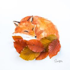 Let every fox take care of its own tail. 🦊 Seems that the squirrel's bushy leaf tail (previous artwork) can be a fox's too! Autumn Crafts, Fall Crafts For Kids, Autumn Art, Nature Crafts, Diy For Kids, Leaf Crafts, Leaf Art, Art Club, Fall Halloween