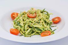 Hovkonditorn: Zucchini Noodles with Avocado Pesto Sauce