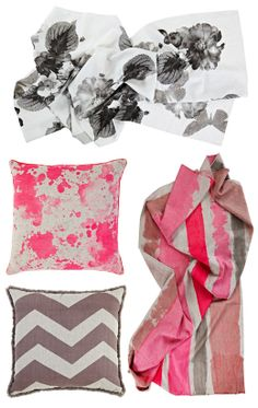 Neon pink cushion cover by Melbourne design duo Bonnie & Neil. Maybe not in the pink though...