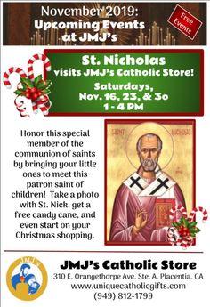 Catholic Store, Catholic Gifts, Saint Nicholas, Upcoming Events, Free