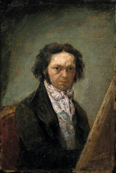 Francisco Goya (Spanish 1746–1828) [Romanticism] Self-portrait, 1795. Museo del Prado, Madrid.