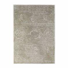 Tapis à poils courts en laine beige 140 x 200 cm ARTEFACT