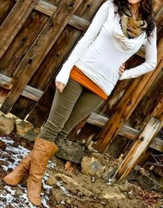 Fall Outfit With Skinny Jeans and Long Boots