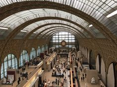 """The Musee D'Orsay of Paris, France is a museum located in a circa-1900 train station, designed in the Beaux-Arts style. As was a hallmark of that movement, the """"noble space"""" (or grand, imposing space) was created by lining the roof with windows, allowing light in and creating an illusion of endless, airy space."""