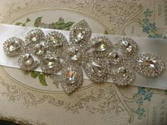 Wedding bridal belt sash