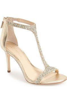 Imagine Vince Camuto 'Phoebe' Embellished T-Strap Sandal (Women) available at #Nordstrom