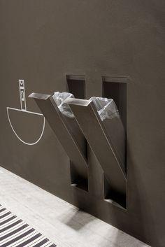 Bathroom accessories hidden in the wall: Sesamo by antoniolupi