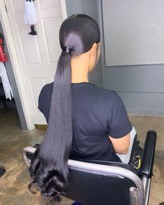 Stunning high ponytail haircut for girls. Hair Ponytail Styles, Ponytail Haircut, Slick Ponytail, Weave Ponytail Hairstyles, Baddie Hairstyles, Curly Hair Styles, Natural Hair Styles, Black Hairstyles, Hairdos