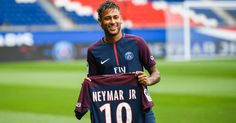 Neymar JR Paris Saint-Germain FC Football Jersey - Authentic Mens Ligue 1 Club Soccer Nike Home Short Shirt Neymar Barcelona, Camisa Barcelona, Neymar Jr, Psg Champions, Champions League, Cristiano Ronaldo, Fifa, Ivan Rakitic, Barca Real