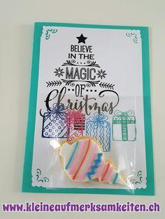 Karte mit Cookie - Christmas