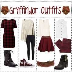 """""""Gryffindor Outfits"""" by ameliaroseoswald on Polyvore"""