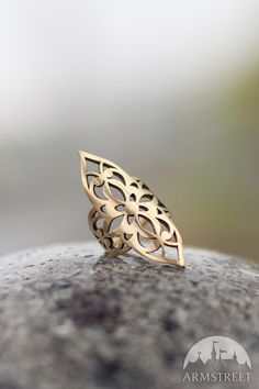 """Cut-through melchior princess ring. Great jewelry piece from our medieval fantasy collection """"Lost and Found Princess"""" Flat-price worldwide shipping"""