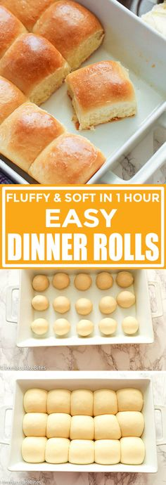 Easy Dinner Rolls - Immaculate Bites Create Perfect Melt In The Mouth Dinner Rolls Cooking with yeas Dinner Rolls Easy, Frozen Dinner Rolls, Homemade Dinner Rolls, Dinner Rolls Recipe, Quick Easy Dinner, Quick Easy Meals, Quick Recipes, Pain Burger, Fast Dinners