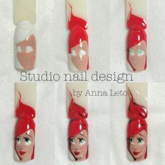 Step-by-step nail art tutorial Shellac Nails, Nail Manicure, Nail Art Diy, Cool Nail Art, Nail Art Dessin, Sculpted Gel Nails, Crazy Nail Art, Disney Nails, Creative Nails