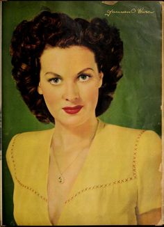 Screenland (May Vintage Movie Stars, Vintage Movies, Vintage Ads, Maureen O'hara, Body Adornment, Classic Beauty, Vintage Hairstyles, The Borrowers, Redheads