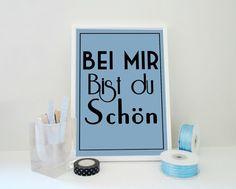 Bei Mir Bist Du Schön (To Me You are Beautiful) Print Lyrics Typography by SacredandProfane