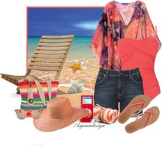 """""""Fun Day at The Beach"""" by arjanadesign ❤ liked on Polyvore"""