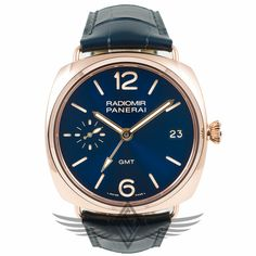 #Panerai PAM00598 #Radiomir #GMT Oro Rosso 47mm Red Gold Case Blue Dial Sekeletonized P.3001/10 Manual Wind Movement Special Edition Watch PAM598 #OCWatchCompany #WatchStore #WalnutCreek