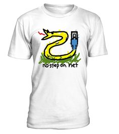 """# No Step on Net Limited Edition T-Shirt .    Protest anti-net neutrality internet legislation and spread awareness of controversy with this unique play on the """"no step on snek"""" / """"Don't tread on me"""" snake Gadsden flag parody meme; show your support for our freedoms, rights, and ethernet cables. A funny, clever gift for all who love the world wide web, from geeks, nerds, gamers, engineers, scientists, IT pros, to social media users and online shoppers; help in warning of the dangers of…"""
