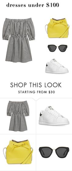 """""""Dress < €100"""" by suzannevanklink ❤ liked on Polyvore featuring adidas, Topshop and Prada"""