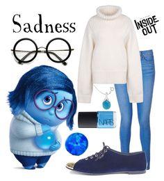 """Inside Out: Sadness"" by amber2207 ❤ liked on Polyvore featuring beauty, Paige Denim, STELLA McCARTNEY, Giuseppe Zanotti, NARS Cosmetics and ambersdisneybounds"