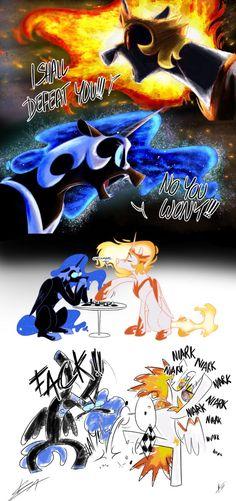 Duel to the Death by LongMuzzlePony.deviantart.com on @DeviantArt