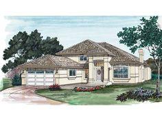 (2021 Sq. Ft.) San Angelo Sunbelt Home Front of Home from houseplansandmore.com
